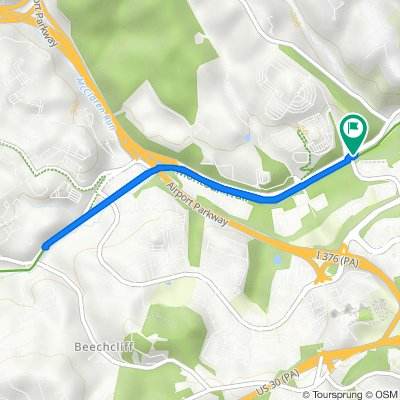 Montour Run Road, McKees Rocks to Montour Trail, McKees Rocks