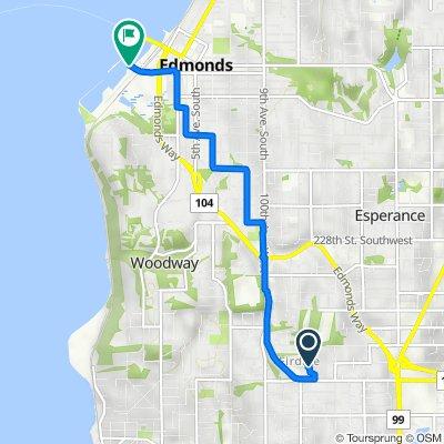 9423 NW 205th St, Edmonds to 300 Admiral Way, Edmonds