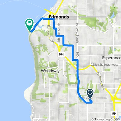 Route from 9423 NW 205th St, Edmonds