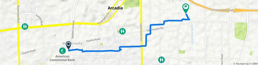 1325 S Baldwin Ave, Arcadia to 1534 Venice Ave, Monrovia