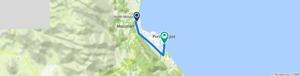 Route from 66 Cooya Beach Road, Bonnie Doon