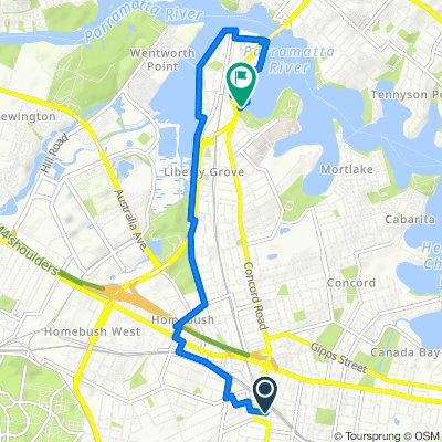 Strathfield to the back of Concord Hospital
