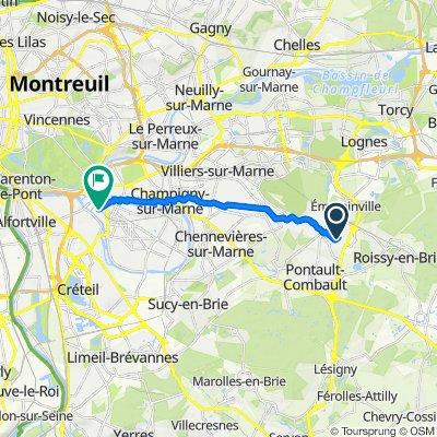 De 1–7 Rue du Maréchal Brune, Pontault-Combault à 17 Rue Politzer, Saint-Maur-des-Fossés