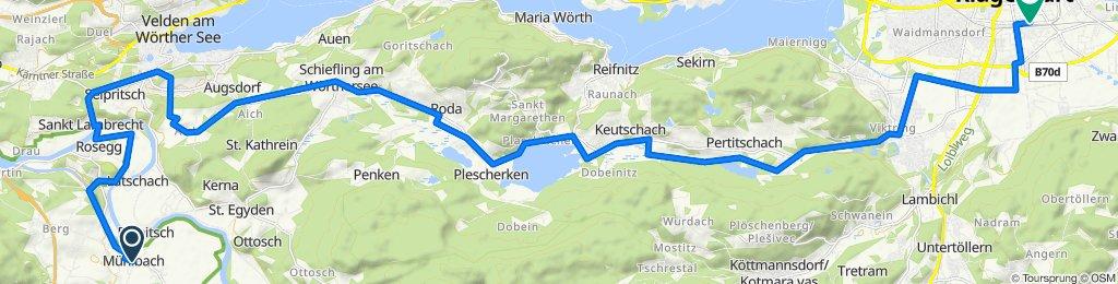 Mühlbach - Keutschach - Klagenfurt
