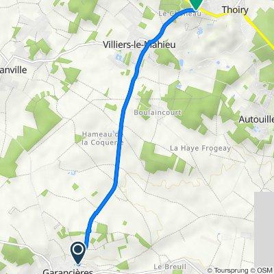 De 23–103 Rue du Chêne François, Garancières à 6bis Route des Bruyères, Thoiry