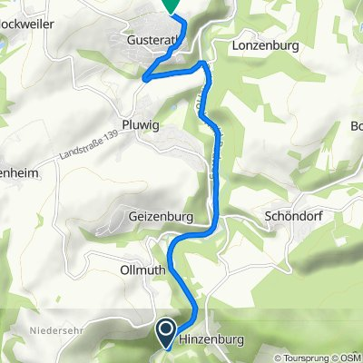 Route nach Ringstraße 17, Gusterath