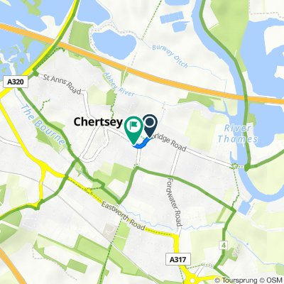 10 Bridge Road, Chertsey to 74 London St, Chertsey
