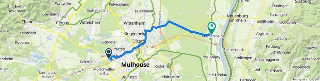 De 18 Dollfus Mieg Matten, Lutterbach à 1 Rue Alphonse Daudet, Ottmarsheim