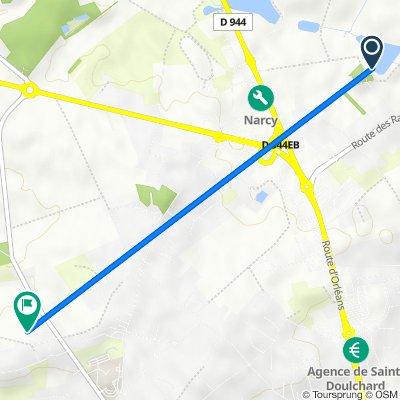 De Chemin des Rogerets, Saint-Doulchard à 833 Route de Vouzeron, Saint-Doulchard