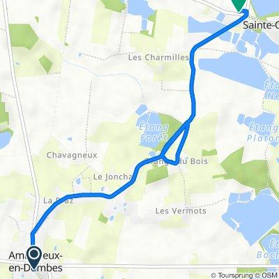 De 50 Rue Gombette, Ambérieux-en-Dombes à 67 Chemin des Angrelles, Sainte-Olive
