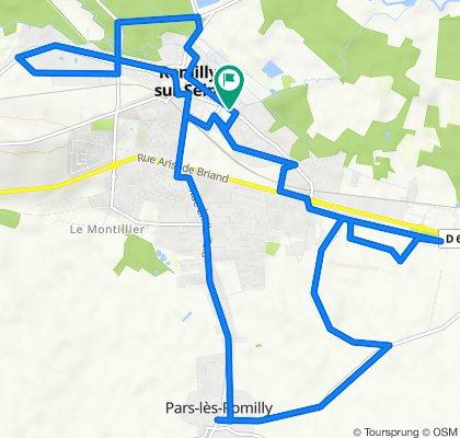 De Rue Gornet Boivin 108, Romilly-sur-Seine à Rue Gornet Boivin 126, Romilly-sur-Seine