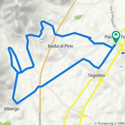 Da Via Farinata degli Uberti 13, Civitella in Val di Chiana a Via Farinata degli Uberti 32/1, Pieve al Toppo