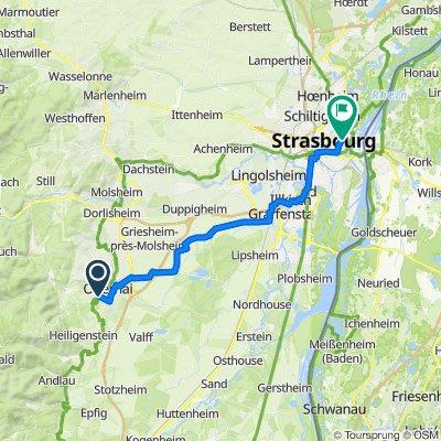 De D426, Obernai à 12 Rue Berlioz, Strasbourg