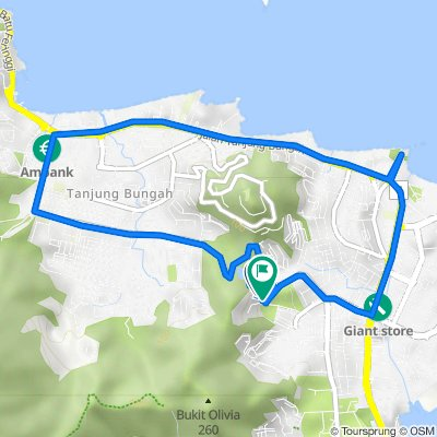 Pepper Estate Road 14 6681, Tanjung Bungah to Persiaran Halia 1 54, George Town