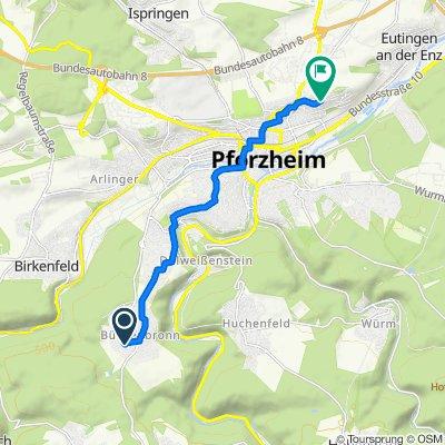 Im Jägergarten 4, Pforzheim nach Oberer Wingertweg 59–65, Pforzheim
