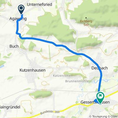 Obernefsried 14, Kutzenhausen nach Lärchenstraße 13, Gessertshausen