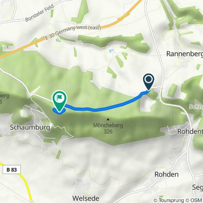 K72, Auetal nach Paschenburg 1, Rinteln