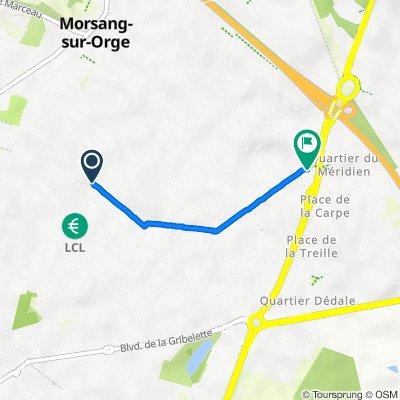 De 6bis Rue Cure d'Air, Morsang-sur-Orge à 1 Avenue de la Forêt, Viry-Châtillon
