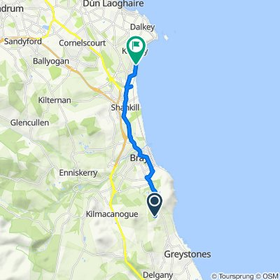 Route to The Court Killiney Bay, Station Road, Killiney