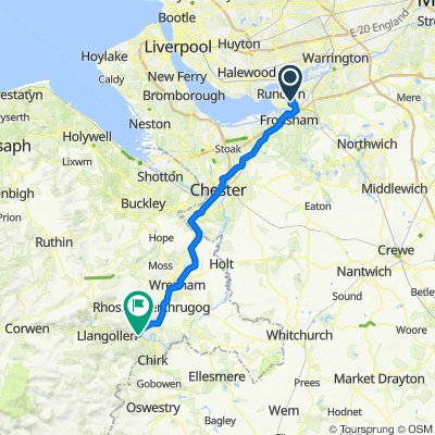 Route from 37 Tawny Ct, Runcorn