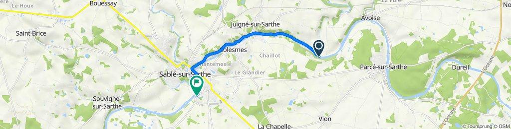 Itinéraire vers 37 Rue des Jumeaux, Sablé-sur-Sarthe