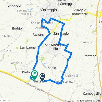 Da Via San Anna 12, Gazzata a Via Fossa Annegata 14A, San Martino in Rio