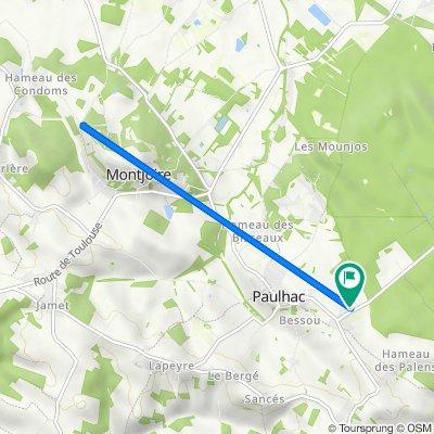 De 11 Route de Buzet, Paulhac à 211 Pradie, Paulhac