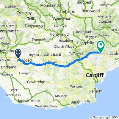 M4, Pencoed, Bridgend to M4, Pontprennau, Lisvane, Cardiff