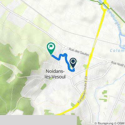 De 4 Rue des Chardonnerets, Noidans-lès-Vesoul à 5 Rue du Pertuis Guillaumet, Noidans-lès-Vesoul