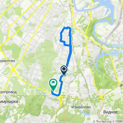 От проезд 3-й Дорожный, Москва до Варшавское шоссе 168 корпус 5, Москва