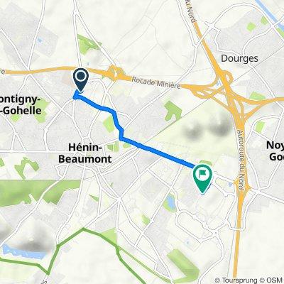 De 50 Rue Pierre Curie, Hénin-Beaumont à 24 Cité de la Borne des Loups, Noyelles-Godault
