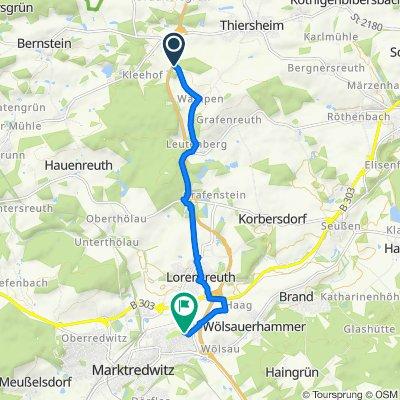 A93, Thiersheim nach Maiglöckchenweg 13, Marktredwitz