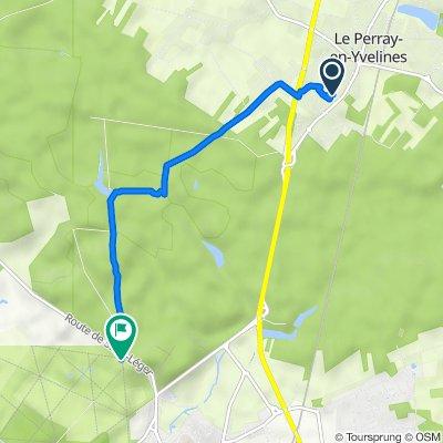 De 7 Rue du Chèvrefeuille, Le Perray-en-Yvelines à Route de la Grille de Versailles, Rambouillet