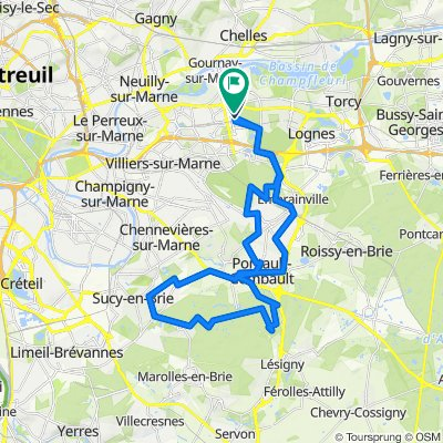 De Boulevard Copernic 4, Champs-sur-Marne à Place du Bois de Grâce 24, Champs-sur-Marne