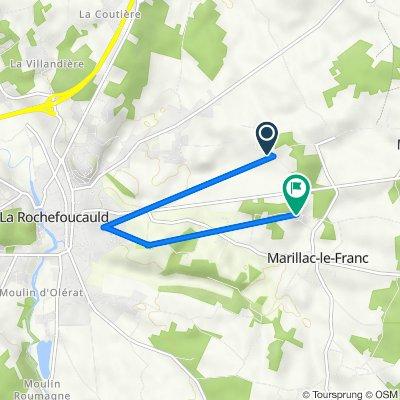De 211 Rue de la Combe Rile, Marillac-le-Franc à 45 Chemin du Petit Bois, Marillac-le-Franc