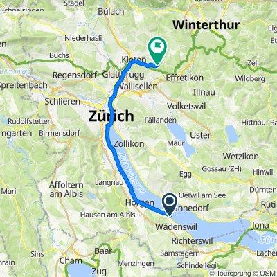 Seestrasse 249–251, Au ZH to Winterthurerstrasse 52, Bassersdorf