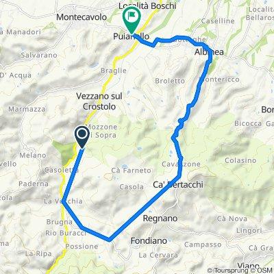 Da Via Rocca 2, Vezzano sul Crostolo a Piazza Antonio Gramsci 9/A, Puianello
