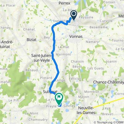 De 31–75 Rue des Pinsons, Vonnas à D64, Neuville-les-Dames