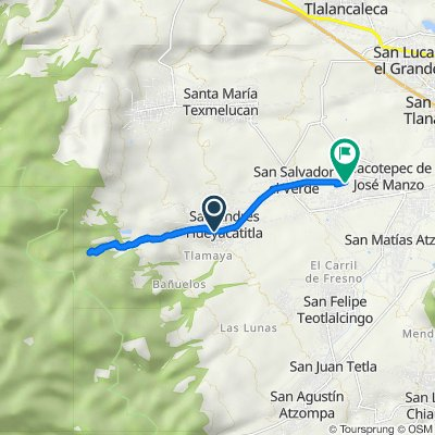 De Calle 16 de Septiembre 1023, San Andrés Hueyacatitla a Tercera Independencia, San Gregorio Aztotoacan