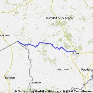 NRW-Nordpunkt nach Uchte