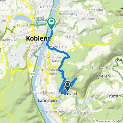 Rheinsteig 12. Etappe Niederlahnstein - Koblenz-Ehrenbreitstein (Süd-Nord)