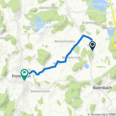 Einöd 1, Fronreute nach Burgstraße 4A, Fronreute