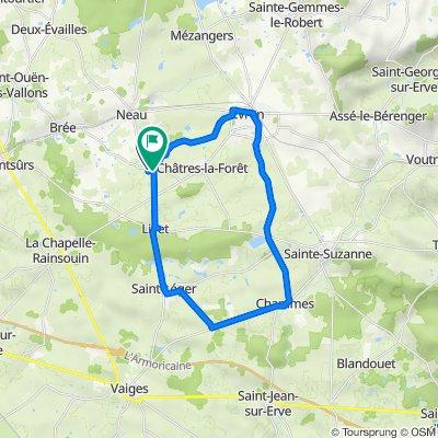 De Impasse des Ligots 9, Saint-Christophe-du-Luat à Rue de la Mairie 7, Saint-Christophe-du-Luat