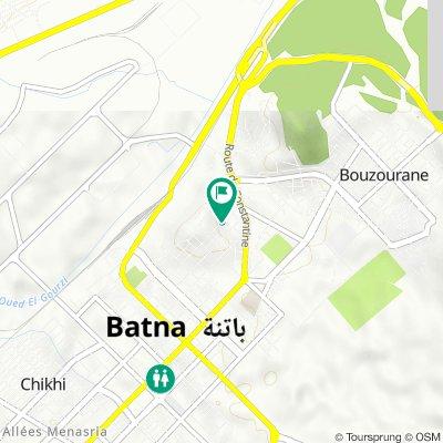 Rue des Frères Lamrani, Batna to Rue des Frères Lamrani, Batna