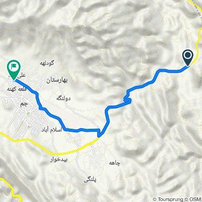 Route to میدان آسیاب, جم