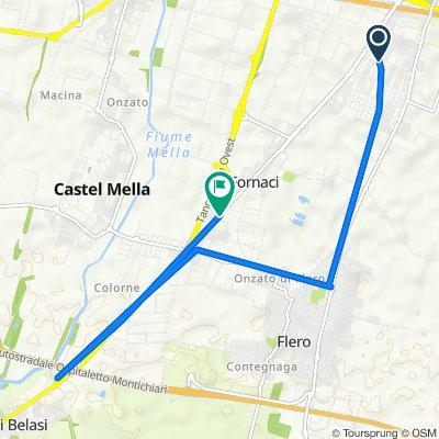 Da Villaggio Sereno Traversa XII 76, Brescia a Via Francesco Petrarca 40, Zerbino