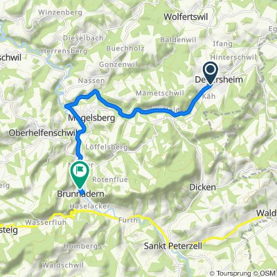 Taastrasse 5, Degersheim nach Dorfstrasse, Brunnadern