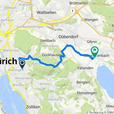 Bergstrasse 83, Zürich nach Fällandenstrasse 7, Schwerzenbach