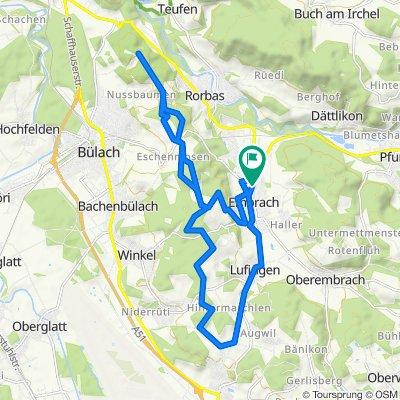 Dorfstrasse 118, Embrach nach Dorfstrasse 121, Embrach