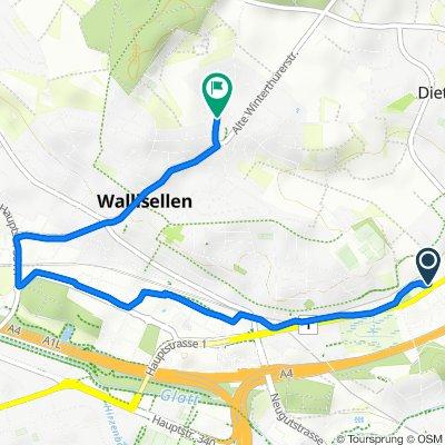 Neue Winterthurerstrasse 2, Wallisellen nach Schäfligrabenstrasse 30, Wallisellen
